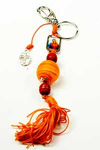 4970-0 Orange Tone Religious Keychain