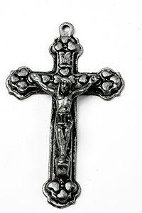 "CR32202 2"" Black Oxidized Metal Crucifix"