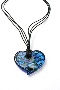 Bella Arte Glass Heart Pendant