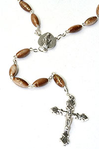 "23"" Long Brown Bead Rosary"