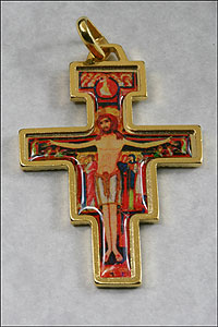 San Damiano Cross Gold
