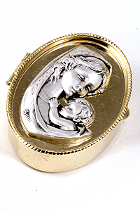 Madonna with Child Rosary/Pill Box